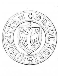 Münze Wappen Ocko tom Brook II Schilling