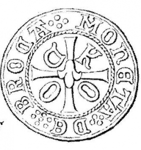 Münze Wappen Ocko tom Brook II Schilling Rückseite