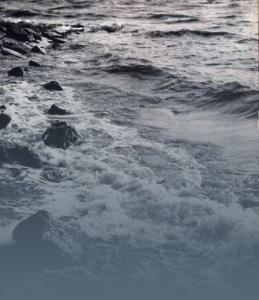 Meeresbrandung blau
