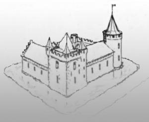 friesisches Wasserschloss grau